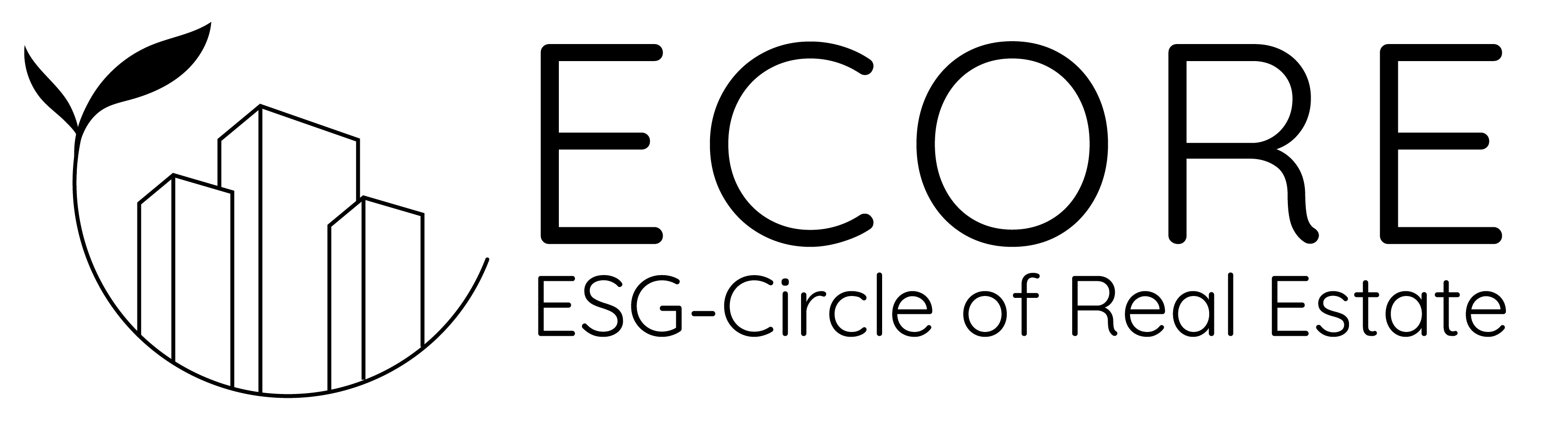 Ecore logo black bg transparent