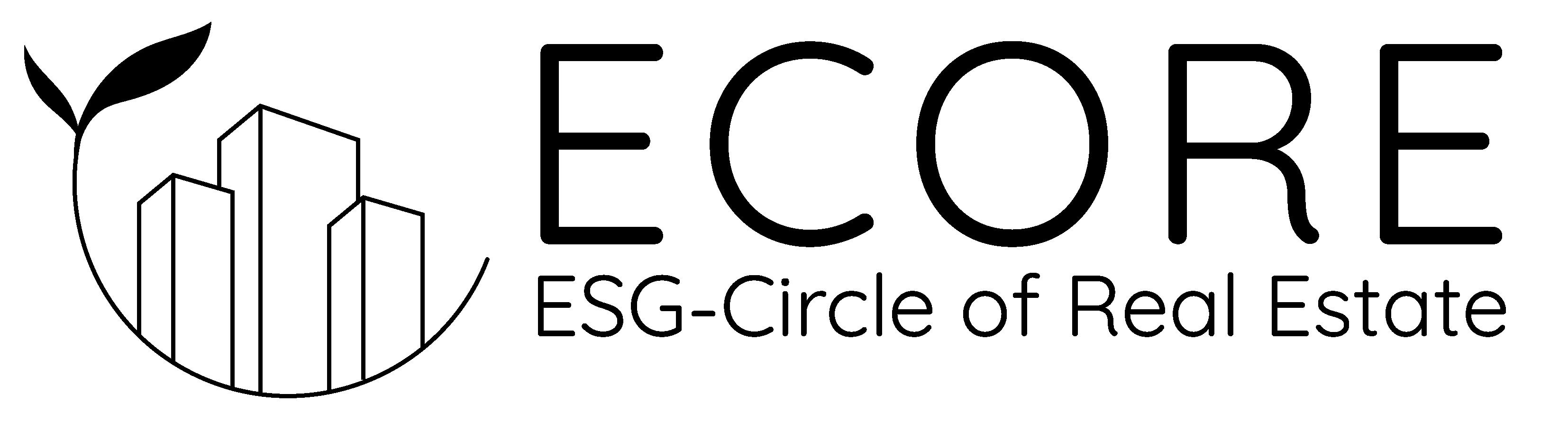 Ecore logo black bg transparent